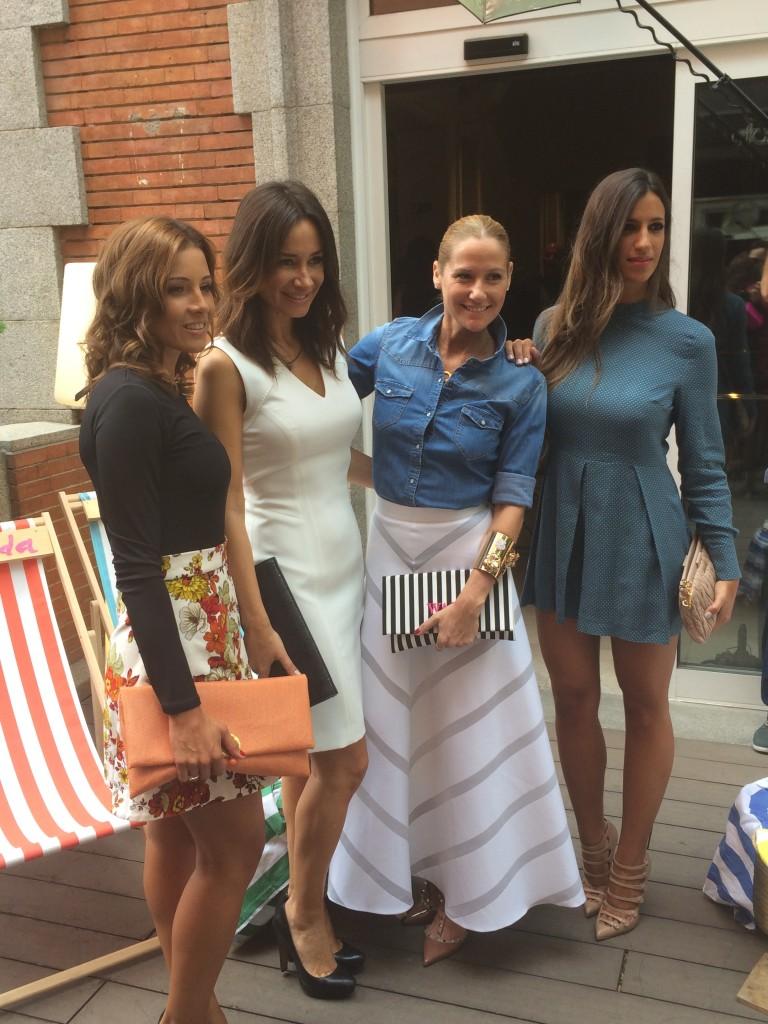 Virginia Troconis, Cecilia, Fiona Ferrer y Iria Otero, mujer del portero Diego López