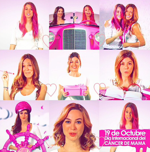 Vive el rosa con ghd, Blanca Suárez, Clara Lago, Úrsula Corberó, Marta Hazas, Manuela Velasco y Lidia Bosch.