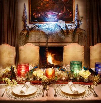 decoración navidad mesa