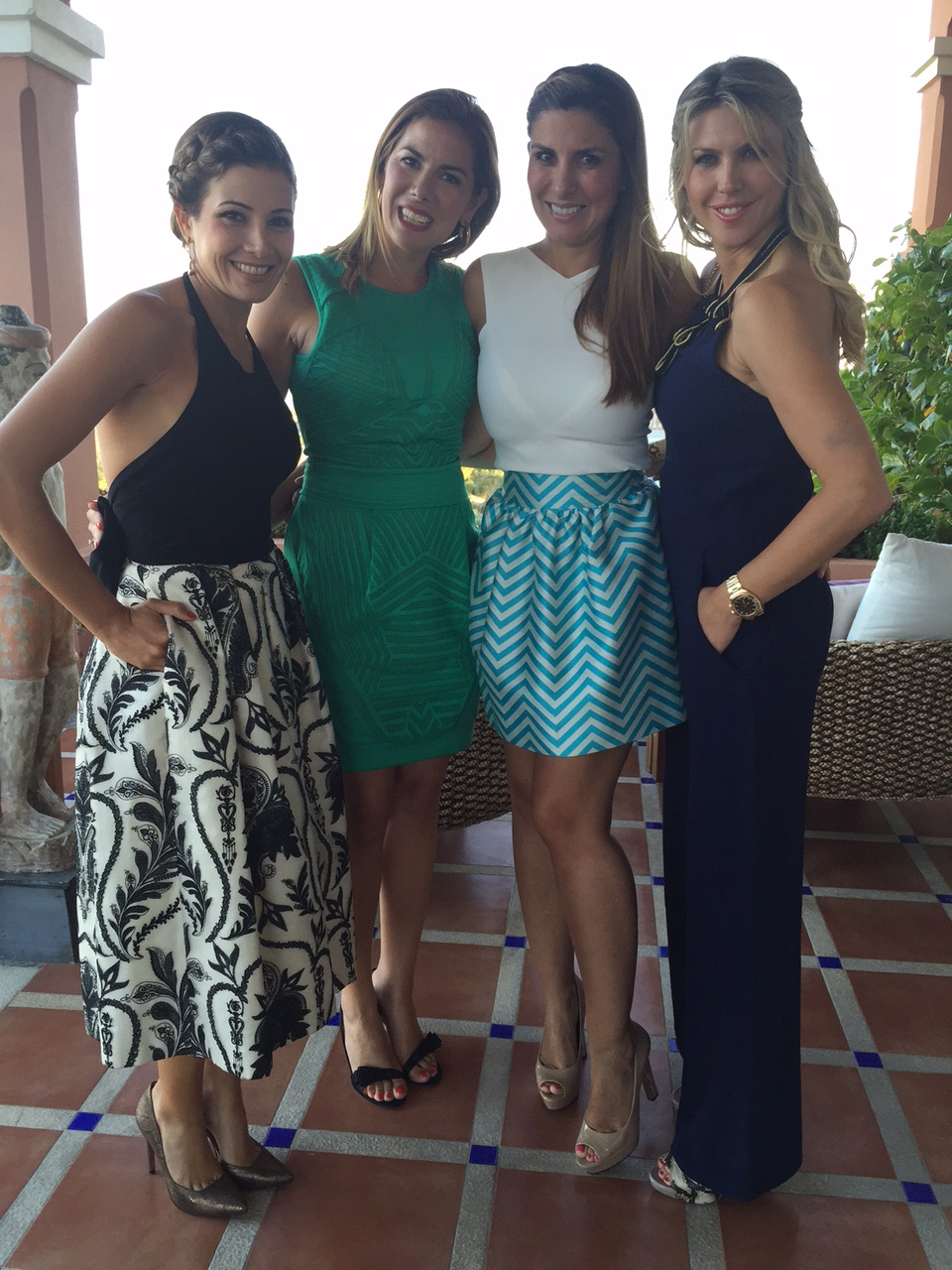 Las 4 magníficas: Virginia Troconis, Laura Carandini, Silvia Casas y Patricia Olmedilla.