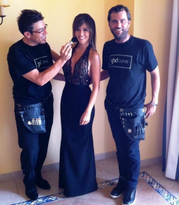 Franco (maquillador), Marta Gonzalez y Raul (peluquería) de Peluquería Raúl para ghd