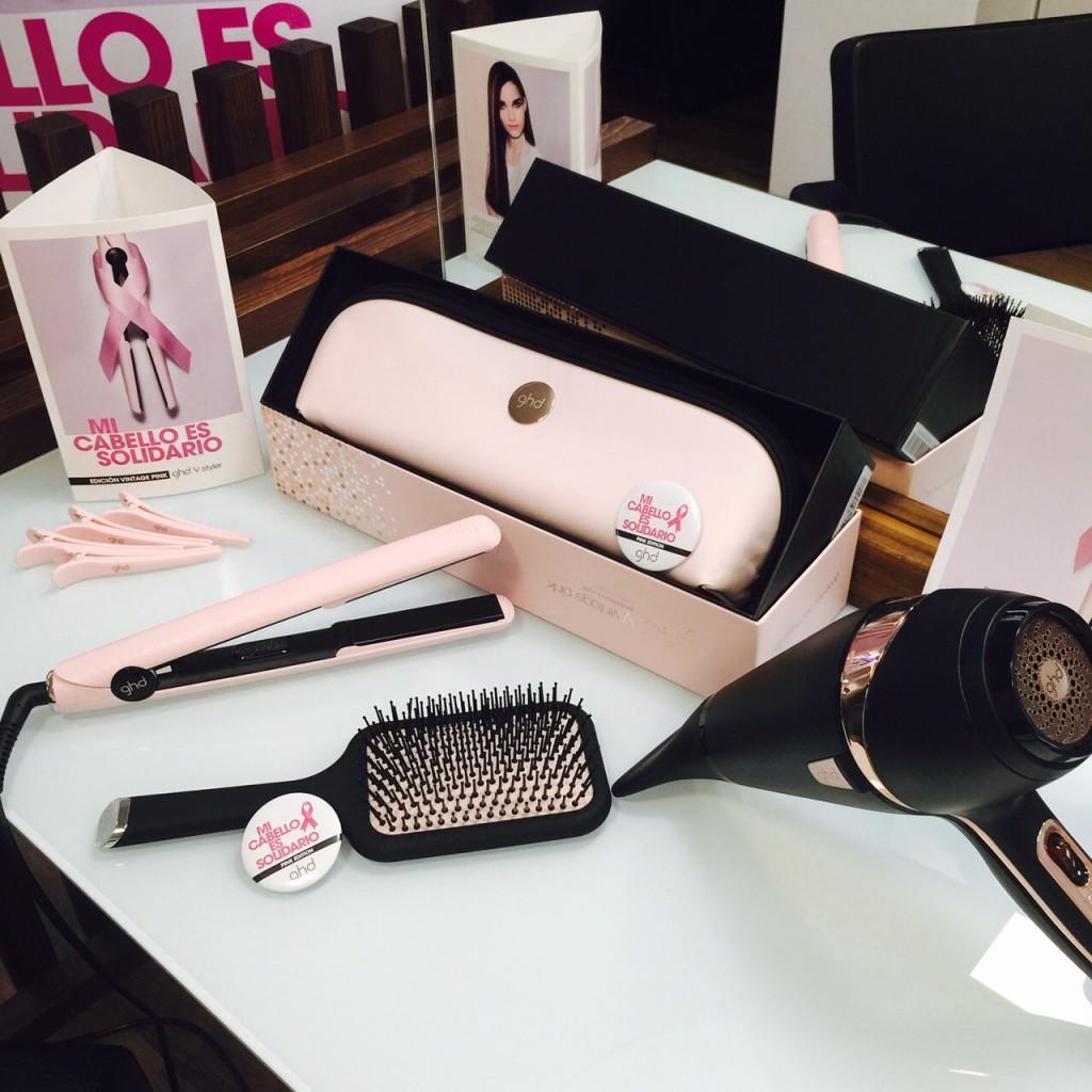 Edición limitada solidaria ghd Vintage Pink: styler, secador y cepillo paddle