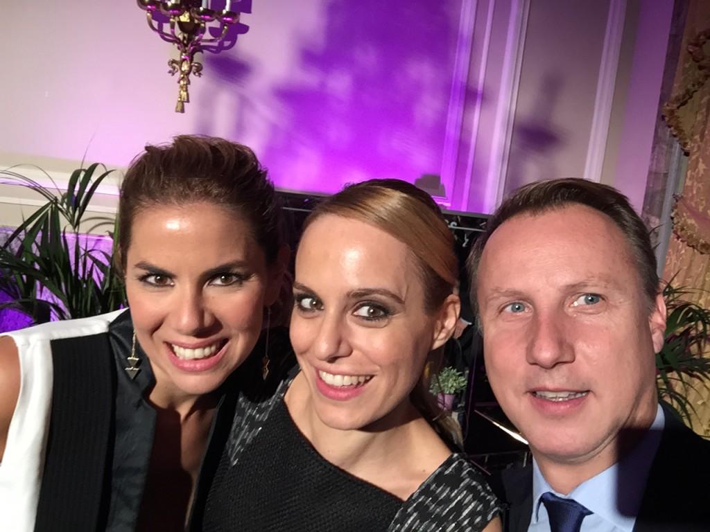 Con la directora Ana Ureña y Thys Niermeyer, director general de ghd