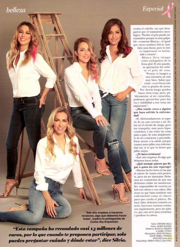 Kira Miró, Blanca Suárez, Hiba Abouk y Silvia; embajadoras ghd unidas para apoyar la investigación de cáncer de mama