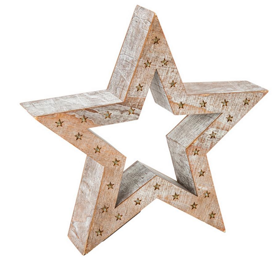 Figura de estrella con luces como detalle de decoración. PVPR: 29,95€