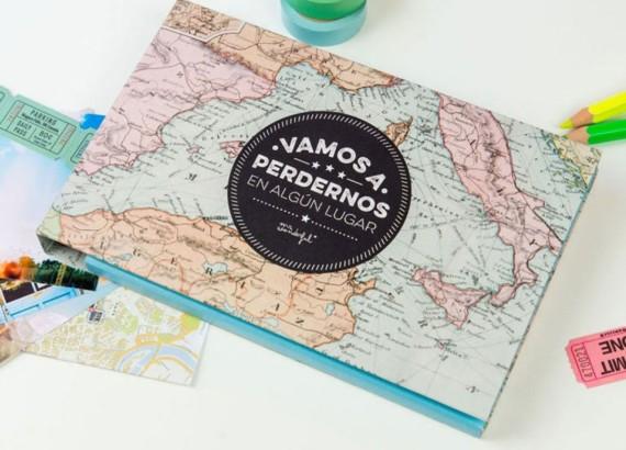Hazle saber que te encantaría dar la vuelta al mundo con ella. Comienza regalando este bonito Álbum de Viajes de Mr.Wonderful. PVP:19,90€