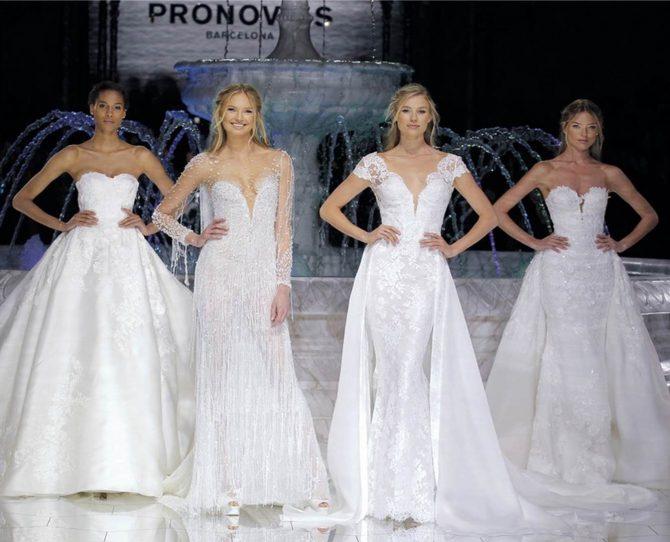 Pronovias deslumbró con su colección WISH de vestidos de novia