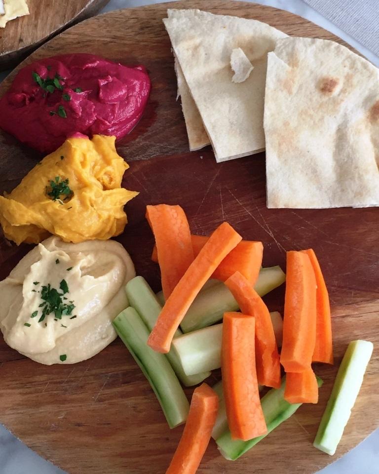 Hummus, Babaganoush, Hummus de Remolacha